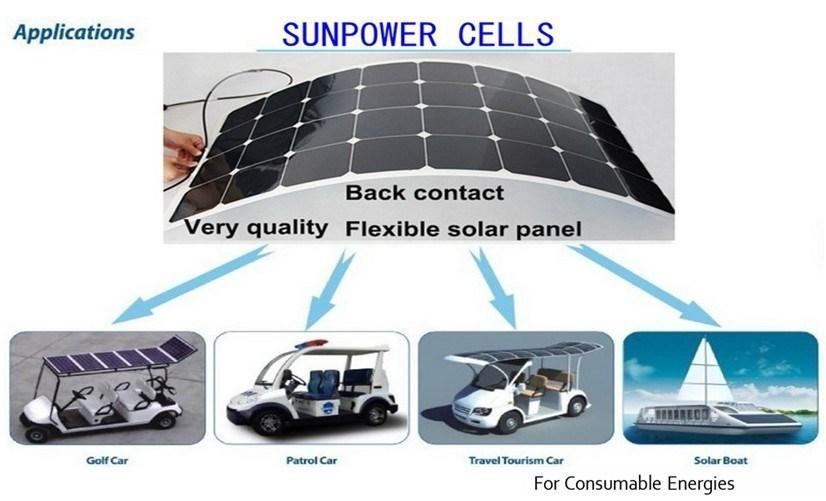 100w 12v Pv Flexible Solar Panel Cell