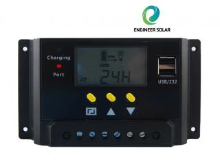 LMS SERIES LCD DISPLAY SOLAR CHARGE CONTROLLER WITH 5V USB OUTPUT