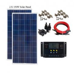 300 Watt 12V Off-Grid Solar Panel Kit
