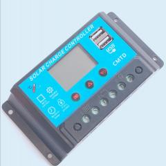 CMTD PWM Solar Charge Controller with LCD and Dual USB Ports