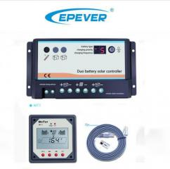 EPever DB Series daul battery charge controller with Remote LCD Meter